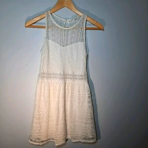 Forever 21 white lace dress.